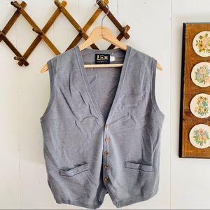 Vintage Knit Cardigan Sweater Vest